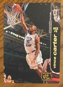 VINCE CARTER, RARE ! 1998-1999 PRESS PASS ROOKIE CARD, NBA SUPERSTAR !