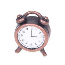 Despertador de metal vivo miniatura de casa de munecas 1/12 Y9L7