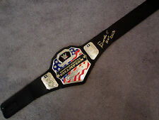 BOOKER T Autographed SIGNED WWE US United States Title Belt New w/COA PROOF HOF