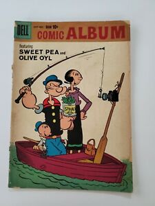 Dell Comic Album Featuring Sweet Pea & Olive Oil $0.10 cover charge POPEYE!!....