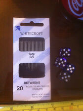 Whitecroft Size 3 / 9 Betweens Tapestry Needles x20 Sewing Embroidery New Sealed