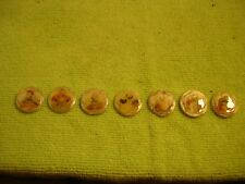 "Lot of seven (7) MOP Japan buttons ""Seven Immortals"""