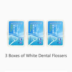 Dental Floss Interdental Brush Portable Teeth Stick Thread Charcoal Flat Thread