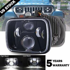 NEW 5X7 7x6 LED Headlight For 1986-1995 Jeep Wrangler YJ 1984-2001 Cherokee XJ