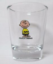 Charlie Brown from 'Peanuts Characters Logo on Clear Shot Glass