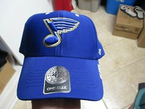 """ST. LOUIS BLUES """"47 BRAND CONDENSER"""" ADJUSTABLE HAT (ONE SIZE) NWT $28 ALL BLUE"""