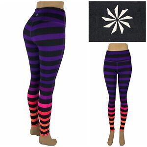 ATHLETA Women XS High Rise Bold Stripe Chaturanga Tight Leggings Yoga 153086 EUC