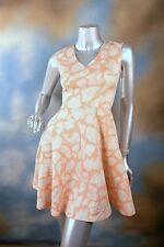 NEW BAR III orange giraffe pattern fit n flare sexy dress SZ: XS