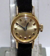 """VINTAGE SMALL CLASSIC GERMANY GOLD PLATED LADIES MECHANICAL WATCH""""JUNGHAN # 3A"""