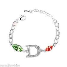 Bracciale Da Donna Cristallo SwarovskiI elements elegante Rosso Verde B11