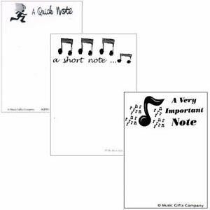 Music Themed A6 Note Pads - Pack of 3
