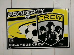 COLUMBUS CREW Soccer Sign 12.5x19 MLS WinCraft Sports Heavy Plastic Man Cave Pub