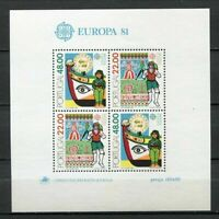 38958) Portugal MNH New 1981 Europa, Folklore S/S