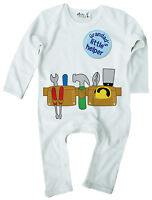 Dirty Fingers Baby Boy Romper Suit Builder DIY Tool Belt Grandad's Little Helper