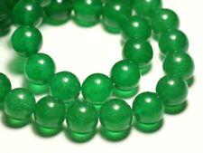 Fil 39cm 27pc env - Perles de Pierre - Jade Boules 14mm Vert Imperial Emeraude