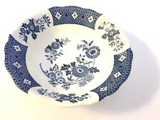 J & G Meakin Cathay Ironstone Staffordshire England Blue White Scalloped Bowl