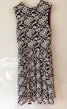 Black and White Floral Lace Dress Children's Size 14