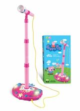 Peppa Pig Microphone Stand Music Light Playset figure Xmas Gift Kid Toy Children