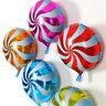 10Pc 18 inch Foil Round Candy Lollipop Balloons - Birthday Party Decoration Gift