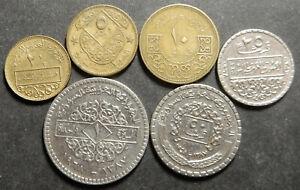 Syria Complete set 2.5+5+10+25+50 Piastres + 1 P. 1962 1965 1968 High grade Rare