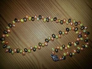 K8654 Perlenkette echte Süßwasserzuchtperle 4mm Halskette Collier Geschenk