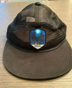 COAL HEADWEAR MENS TRUCKER CAP HAT   BLACK    RRP $49.95   CULTURE KINGS