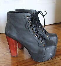 Jeffrey Campbell Havana Last Women's Soft Black LITA Platform Boots, Size 8.5