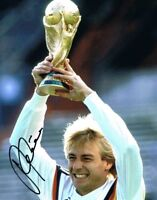 Signed Jurgen Klinsmann Germany 1990 World Cup Winner Autograph Photo