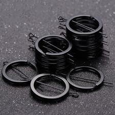 Bulk 20 PCS Bulk Key Holder Split Rings Keyring Keychain Keyfob Black 1.8x2 V8D4