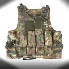 SWAT CP Camo Combat Molle Plate Military Army Airsoft Tactical Vest Hunting