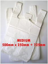 150 Medium Plastic bags/ Shopping carry bags, Approximately 500mm x 250mm +125mm