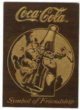 Coca Cola Series 3 Symbol of Friendship Brass Card Be-1