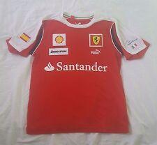 Scuderia Ferrari PUMA SHELL Bridgestone Santander Fernando Alonso T-Shirt  Sz XS