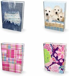 [4-Pack] Jumbo 9x11 Hardcover Textbook Stretchable Fabric Book Covers