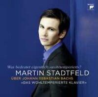 """MARTIN STADTFELD ÜBER BACH """"DAS WOHLTEMPERIERTE..."""" CD"""
