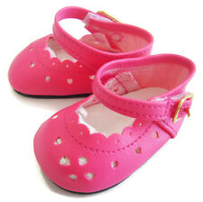 "Bright Pink Dress Shoes fits 18"" American Girl Doll Clothes Sew Beautiful"