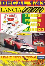 DECAL 1/43 LANCIA STRATOS HF S.MUNARI R.COSTA DEL SOL 1972 DnF (07)