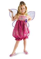 Girls Barbie Butterfly Princess Costume Wings Child Fancy Dress Pink Fairy Kids