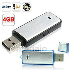 Micro Espion Clé USB Enregistreur Dictaphone 4GO 4GB