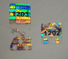 """500 Square Security Hologram Labels Sticker Seals Tamper Evident .5"""" SVAG #'d"""