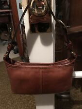 COACH Brown LEATHER BLEEKER TATTERSALL Hobo Style Bag Purse H0769-11415