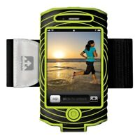 Nathan Running Jogging Gym SonicBoom armband for Iphone 4/4's Black/Lime RRP £20