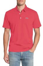 PATAGONIA Trout Fritz Roy Soft Organic Cotton Polo Shirt in Pink Sz.Large NWT