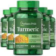 Puritan's Pride Turmeric 800mg Antioxidant Naturally Contains Curcumin 5X100CAPS
