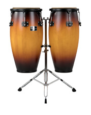 "Gon Bops Fiesta Series 11""/12"" Sunburst Conga Set with Stand Authorized Dealer"
