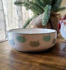 "Gorgeous ""Cat Faces"" Signature Housewares Pet Food or Water Stoneware Bowl NEW"