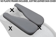 GREY STITCH FITS RENAULT SCENIC MK2 II 2003-2009 2X GREY LEATHER ARMREST COVERS