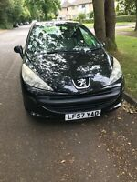 PEUGEOT 207 URBAN BLACK 2007 ONE YEARS MOT