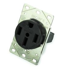 RV Trailer Camper 50 Amp Power VOLT Receptacle Mounting Plate OUTLET 50 A