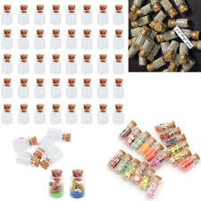 100×Mini Small Miniature Glass Bottles with Corks Stopper Jar/Vial Craft Bottle
